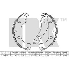 NK Bremsbackensatz 7083041 für FIAT, ALFA ROMEO, LANCIA bestellen