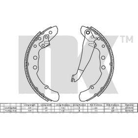 NK Bremsbackensatz 331609528F für VW, AUDI, SKODA, SEAT, VAUXHALL bestellen