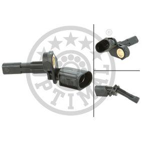 Sensor, Raddrehzahl OPTIMAL Art.No - 06-S064 OEM: 1K0927808 für VW, AUDI, SKODA, SEAT, PORSCHE kaufen