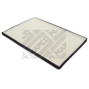 MAPCO Kabineluftfilter Papir, Pollenfilter 65803 af original kvalitet