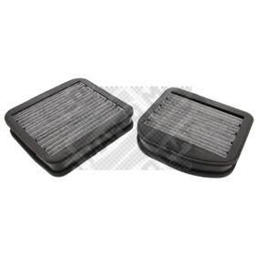 MAPCO Filtro, aire habitáculo Filtro de carbón activado 67882 en calidad original