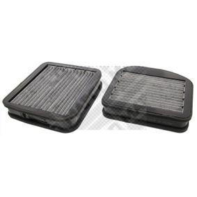 MAPCO Filtro, aire habitáculo Filtro de carbón activado 4043605442192 evaluación