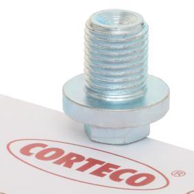 CORTECO Болтова пробка, маслен картер 220050H