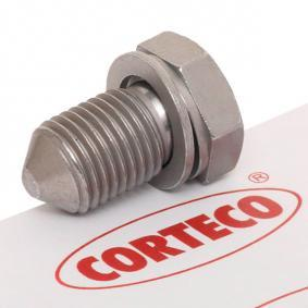 CORTECO Болтова пробка, маслен картер 220061H
