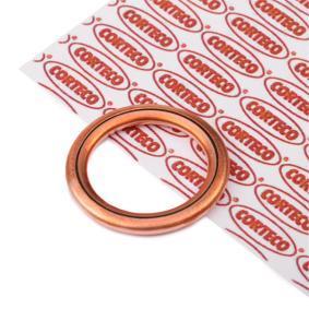 Anello di tenuta, vite di scarico olio CORTECO Art.No - 402129H OEM: 031327 per PEUGEOT, CITROЁN comprare