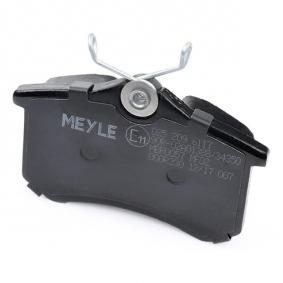 MEYLE Bremsbelagsatz, Scheibenbremse (025 209 6117) zum günstigen Preis