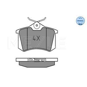 MEYLE RENAULT MEGANE Brake pads (025 209 6117)