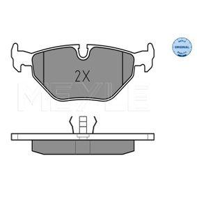 Bremsbelagsatz, Scheibenbremse MEYLE Art.No - 025 216 0717 OEM: 34212157621 für BMW kaufen
