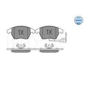 Bremsbelagsatz, Scheibenbremse MEYLE Art.No - 025 235 8720/W OEM: 1K0698151E für VW, AUDI, FORD, PEUGEOT, SKODA kaufen