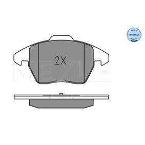 MEYLE Kit de plaquettes de frein, frein à disque 8J0698151C pour VOLKSWAGEN, AUDI, SEAT, SKODA acheter