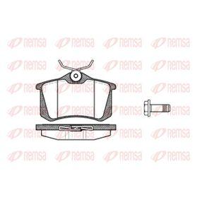 REMSA VW GOLF Комплект спирачно феродо, дискови спирачки (0263.05)