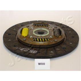Kupplungsscheibe JAPANPARTS Art.No - DF-W00 OEM: 96408517 für OPEL, CHEVROLET, DAEWOO, PLYMOUTH kaufen
