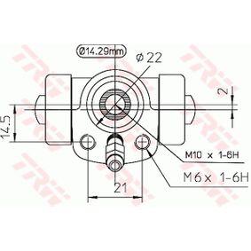 TRW Radbremszylinder 1H0611053B für VW, AUDI, SKODA, SEAT, PORSCHE bestellen