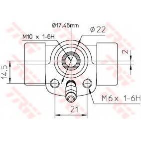 TRW Cilindro de freno de rueda BWC107