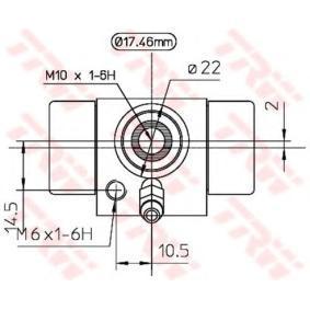 AUDI 100 1.8 88 PS ab Baujahr 02.1986 - Radzylinder (BWC107A) TRW Shop