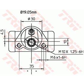 TRW Radbremszylinder 4121616 für FIAT, SEAT, ALFA ROMEO, LANCIA, LADA bestellen