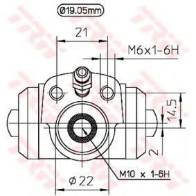 TRW Radbremszylinder 861611053 für VW, AUDI, SKODA, SEAT, PORSCHE bestellen