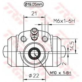 TRW Radbremszylinder 1H0611053 für VW, AUDI, SKODA, SEAT, PORSCHE bestellen