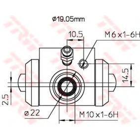 TRW Radbremszylinder 6Q0611053B für VW, AUDI, SKODA, SEAT bestellen