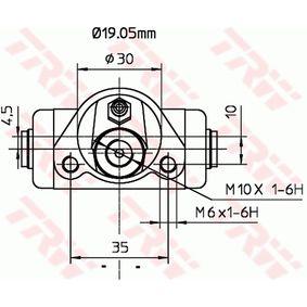 TRW Radbremszylinder 5987896 für FIAT, SEAT, LANCIA, ABARTH, AUTOBIANCHI bestellen