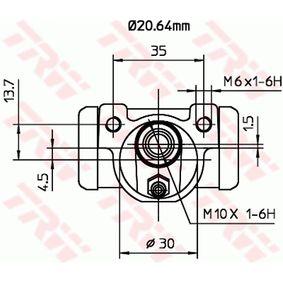 Wheel cylinder BWF262 TRW