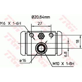 Wheel cylinder BWF307 TRW