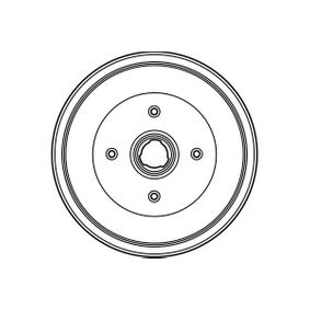 TRW Bremstrommel 1H0501615A für VW, AUDI, FORD, SKODA, SEAT bestellen