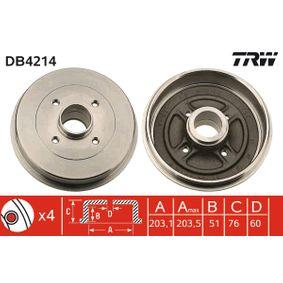 TRW Tambor de freno DB4214