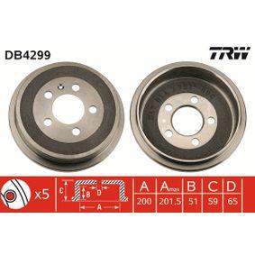TRW Tambor de freno (DB4299) a un precio bajo