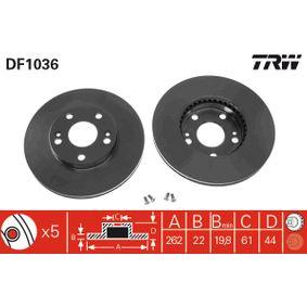 Bremsscheibe TRW Art.No - DF1036 kaufen