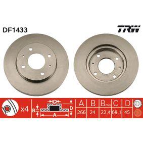 Bremsscheibe TRW Art.No - DF1433 OEM: 3256152893 für VW, AUDI, FORD, SKODA, SEAT kaufen