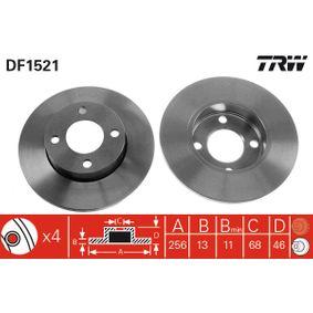 Bremsscheibe TRW Art.No - DF1521 OEM: 431615301 für VW, AUDI, SKODA, SEAT, PORSCHE kaufen