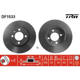 Bremsscheibe TRW Art.No - DF1533 OEM: 357615301D für VW, AUDI, SKODA, SEAT kaufen