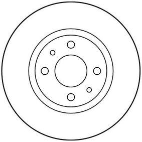 TRW спирачен диск 60808872 за FIAT, ALFA ROMEO, LANCIA, CHRYSLER купете