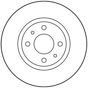 Brake discs and pads DF1747 TRW