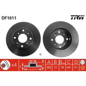TRW Окачване, стабилизатор DF1811
