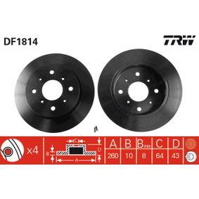 TRW Комплект спирачни дискове DF1814