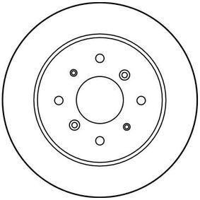 Спирачен диск DF1814 TRW