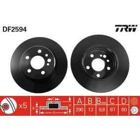 Bremsscheibe TRW Art.No - DF2594 OEM: 1404230612 für MERCEDES-BENZ kaufen