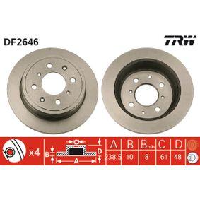 Спирачен диск TRW Art.No - DF2646 OEM: GBD90817 за HONDA, SKODA, LAND ROVER, ROVER, MG купете