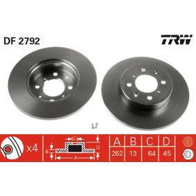 TRW Спирачен диск (DF2792)