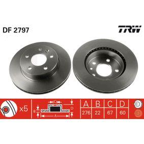 Bremsscheibe TRW Art.No - DF2797 OEM: A6384210112 für MERCEDES-BENZ kaufen