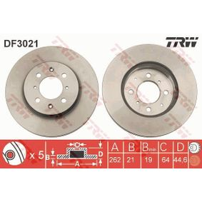 TRW Спирачен диск (DF3021) на ниска цена