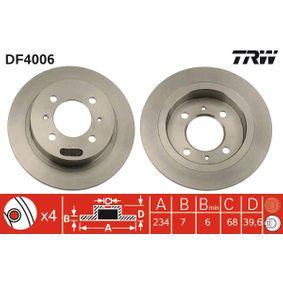 Bremsscheibe TRW Art.No - DF4006 OEM: 4320658Y02 für NISSAN, INFINITI kaufen