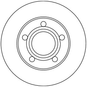 TRW Disc frana puntea spate, Ř: 245mm, plin, lacuit 3322937237395 nota