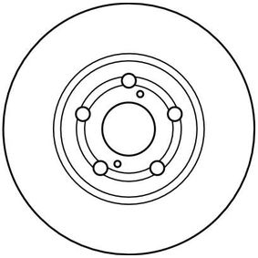 TRW Disc frana punte fata, Ř: 260mm, ventilat, lacuit 3322937274048 nota