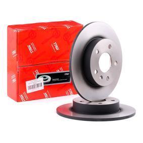 TRW Disc frana puntea spate, Ř: 264mm, plin, lacuit DF4051 de calitate originală