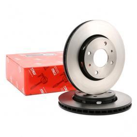 TRW Disc frana punte fata, Ř: 281mm, ventilat, lacuit DF4054 de calitate originală
