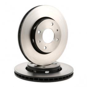 TRW Disc frana punte fata, Ř: 281mm, ventilat, lacuit 3322937275274 nota