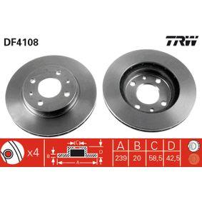 Bremsscheibe TRW Art.No - DF4108 kaufen